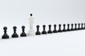 Chess row concept d render of with soft focus Royalty Free Stock Images