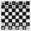 Chess set collection useful as icon illustration and background for theme Stock Photos