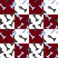 Chess vector image pattern with Royalty Free Stock Photography