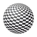 Chessboard ball Stock Image