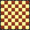 Chessboard bitmap illustration classic with field markings Stock Images