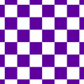 Chessboard or checker board seamless pattern in blue and white. Checkered board for chess or checkers game. Strategy Royalty Free Stock Photo