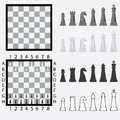 Chessboard with chess pieces. Stock Photos