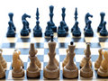 Chessboard on initial position Royalty Free Stock Photo