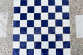The chessboard white and blue background Royalty Free Stock Images