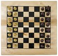 Chessboard wooden from top with clipping path Stock Photos