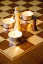 Chessmen on the Board Royalty Free Stock Photography