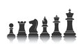 Chessmen icon on the image is presented Stock Images