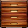 Chest of drawers dresser abstract vector illustration isolated on background eps Royalty Free Stock Photography