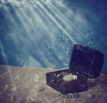 Chest under water Royalty Free Stock Photo