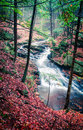 Chesterfield gorge new hampshire waterfall in Royalty Free Stock Photography