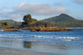 Chesterman beach tofino bc rugged pacific coast near on vancouver island Stock Images
