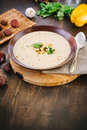 Chestnut cream soup Royalty Free Stock Photo