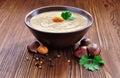 Chestnut soup Royalty Free Stock Photo