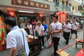 Cheung Chau street view in Hong Kong