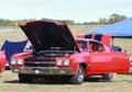 Chevelle ss bij car show Royalty-vrije Stock Afbeeldingen