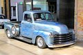 Chevrolet advance design berlin germany august classic american pickup truck in the museum of vintage cars classic remise Stock Photo