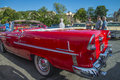 Chevrolet bel air convertible the picture is shot at the fish market in halden norway Stock Photo