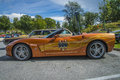 Chevrolet corvette indianapolis pace car the image is shot at fredriksten fortress in halden norway during the annual classic Royalty Free Stock Image