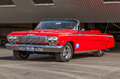 Chevrolet impala convertible at classic cars auto show in iceland Stock Photo
