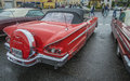 Chevrolet impala convertible image is shot a rainy afternoon in july at the fish market in halden norway Stock Images