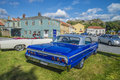 Chevrolet impala ss the picture is shot at the fish market in halden norway Stock Image