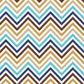 Chevron background pattern seamless in beige brown blue Royalty Free Stock Images