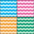 Chevron color fresh effect set seamless pattern