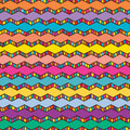 Chevron colorful draw line pattern