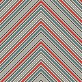 Chevron abstract background. Retro seamless pattern with classic geometric ornament. Zigzag horizontal lines wallpaper.