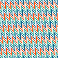 Chevron diagonal stripes background. Seamless pattern with classic geometric ornament. Bright zigzag lines wallpaper.