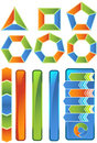 Chevron Diagram Icon Set Stock Photo