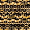 Chevron line golden glitter seamless pattern Royalty Free Stock Photo
