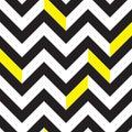Chevron pattern black and white seamless Royalty Free Stock Photos
