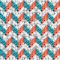Chevron pattern in geometric style seamless background Royalty Free Stock Photos