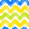 Chevron pattern hand painted with brushstrokes vector seamless bold in bright multiple colors can be used for print wallpaper fall Royalty Free Stock Photo
