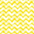 Chevron pattern hand painted with brushstrokes vector seamless bold in bright yellow can be used for print wallpaper fall summer Stock Image