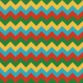 Chevron pattern seamless vector arrows geometric design colorful yellow red green sky blue Royalty Free Stock Photo