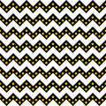 Chevron pattern seamless vector arrows and stripes design black and white with gradient golden stars Royalty Free Stock Photo