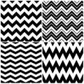 Chevron patterns set of vector Stock Photo