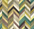 Chevron Random Color Natural P...