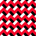 Chevron red black pattern white and zigzag seamless abstract geometric background for business brochures cards website templates Stock Images