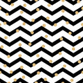 Chevron zigzag black and white seamless pattern Royalty Free Stock Photo