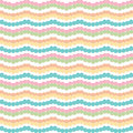 Chevron zigzag colorful horizontal stripes on white background