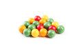 Chewing gums colorful isolated on white Stock Image