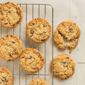 Chewy flapjack cookies Royalty Free Stock Photos
