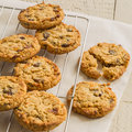 Chewy flapjack cookies Royalty Free Stock Photography