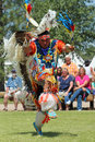 Cheyenne frontier days a native american dancer during the powwow in indian village Stock Photography