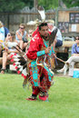 Cheyenne frontier days powwow a native american dancer at the and indian village in wyoming Royalty Free Stock Images