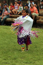 Cheyenne frontier days powwow a native american dancer at the and indian village in wyoming Royalty Free Stock Photography